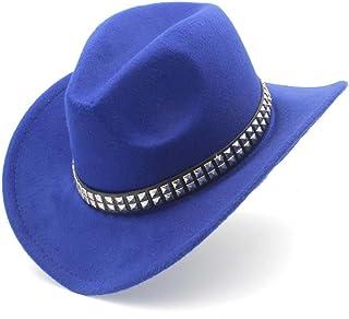 Gmshezmh GMS- Fashion Felt Hat for Women Men Western Cowboy Hat with Roll  Up Brim 7de1226fdb43