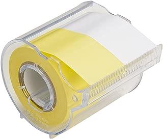 ヤマト 付箋 メモックロールテープ 黄&白 25mm×10m カッター付き R-25CH-WY