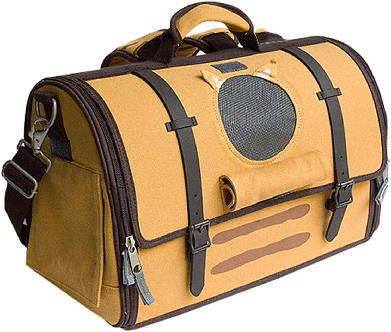 Ryan Pet Backpack, Cat Dog Backpack Pet Carrier Front Handbag Soft Sided Travel Bag(16 Inch,42cm  22cm  26cm) (color   orange)