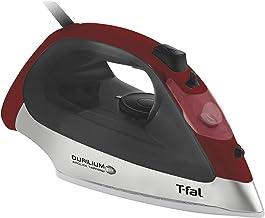 T-fal Plancha FV2613X0 Ultraglide, el mejor deslizamiento contra las arrugas por su exclusiva suela Durilium Airglide, color Roja/Negro