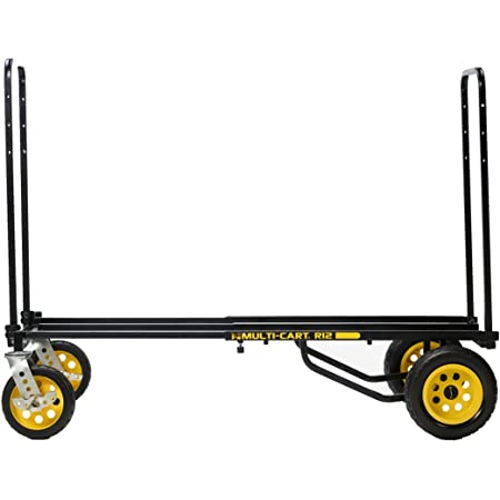 "Rock-N-Roller R12RT (All Terrain) 8-in-1 Folding Multi-Cart/Hand Truck/Dolly/Platform Cart/34"" to 52"" Telescoping Frame/500 lbs. Load Capacity, Black"