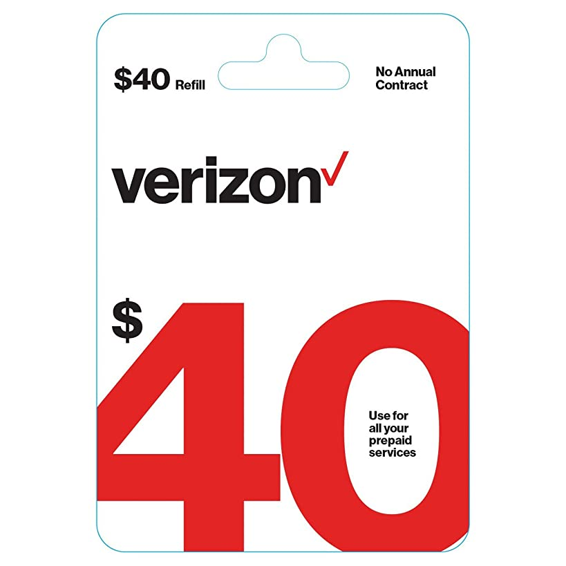 $40 Verizon Wireless Prepaid Refill Top up PIN Card (Mail Delivery) nqp2380464351581