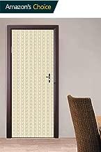 3D Door Decals Wall Mural Door Stickers, Vintage Nautical Rope Door Stickers Door Wallpaper Mural Peel and Stick Door Wall Murals for Living Room Bedroom, 30.3W x 78.7H Inches