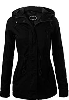 Instar Mode Women's Anorak Safari Hoodie Jacket up to Plus Size
