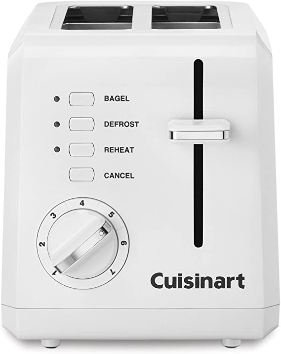 Cuisinart CPT-122 2-Slice Compact Plastic Toaster (White)