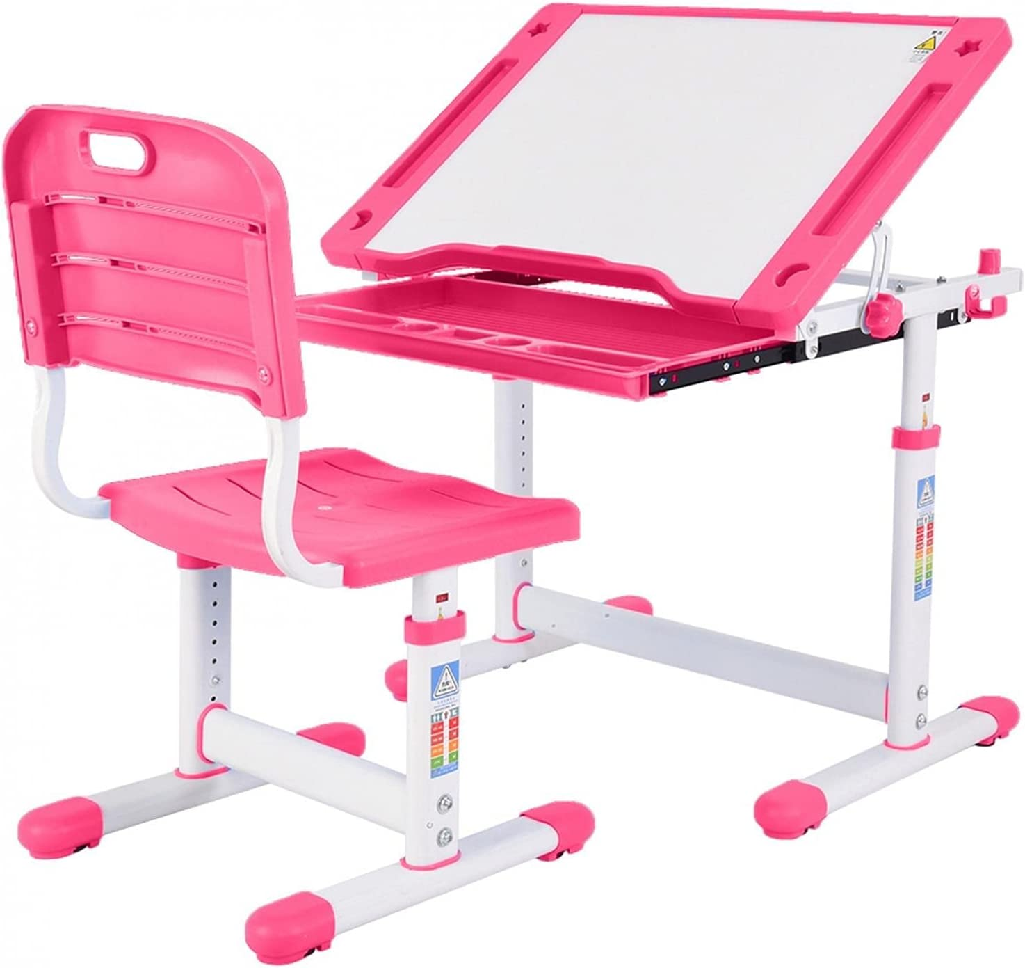 FartPeach School Desk for Kids - Memphis Mall Height Years 6-12 Adjustable St Recommended