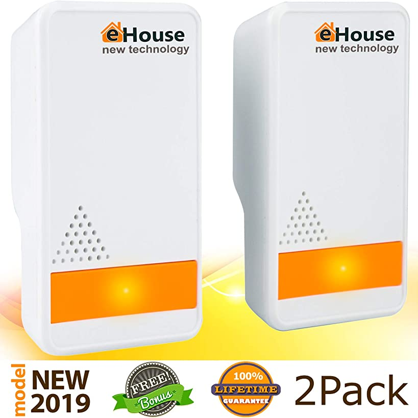 EHOUSE Indoor Electronic Plug-in, Best liquidating - Rodents, Mice, Rats, Bats, Roaches, Spiders, Fleas, Bed Bugs, Flies, Ants. Model BH-3 (Orange Night Light)