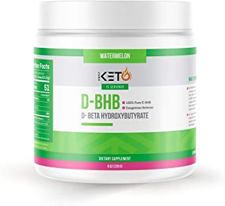Simply Keto Nutrition DBHB Exogenous Ketones Best for Energy Pre Workout Keto Diet Support Ketosis and Intermittent Fasting D Beta Hydroxybutyrate DBHB Salt Watermelon