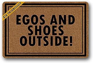 """Doormat Egos and Shoes Outside Rubber Non-Slip Doormat Entrance Rug Floor Mat Durable Home Indoor Mats 23.6"""" x 15.7"""""""