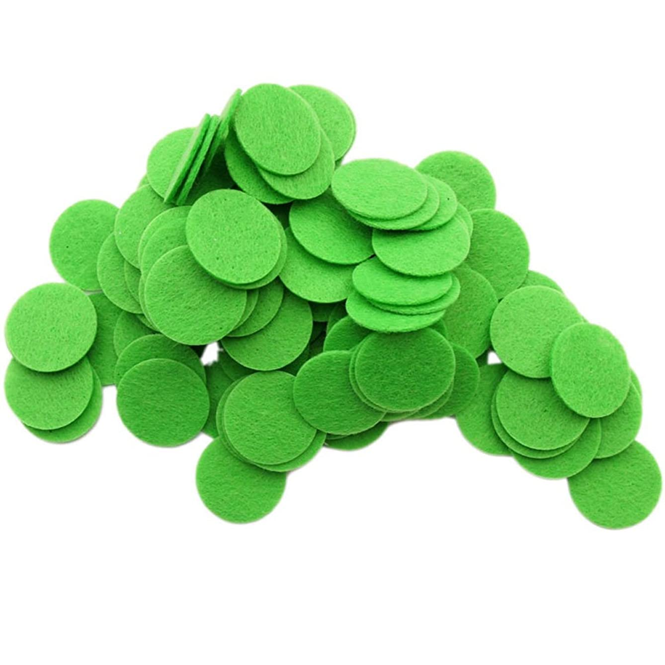 Playfully Ever After 1 Inch Green 100pc Stiff Felt Circles