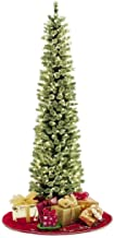 JoJo's Corner Pencil Slim Christmas Tree 7FT Soft Feel Touch with Stay Lit Lights