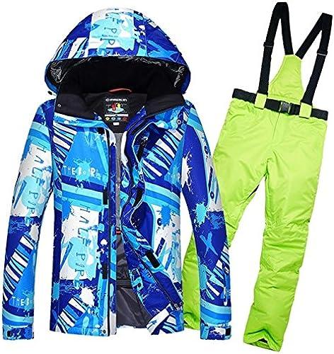 YFF Hommes's Skiwear Patin à Glace Combinaison de Ski VêteHommests Vestes et Pantalons imperméables au Vent