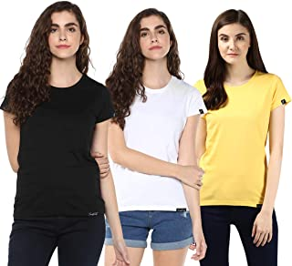 YOUNG TRENDZ Womens Round Neck Cotton Top Tshirt