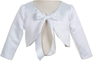 3/4 Sleeves Satin Junior Flower Girl Bolero Jacket Pretty Novelty Set
