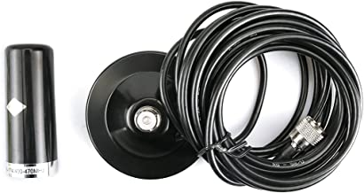 Dual Band Stealth Mobile Antenna with Magnetic Mount 5M RG-58/U Coaxial Cable for QYT KT-8900 KT8900 Mobile Radio