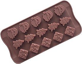 BESTONZON 15-Cavity Silicone Chocolate Baking Pan Chocolate Mold Safe Baking Tray Maker