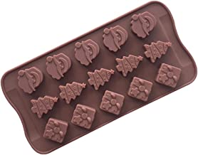 BESTONZON 15-Cavity Silicone Chocolate Baking Pan Chocolate Mold Safe Baking Tray Maker