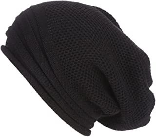 LEXUPA Men Women Baggy Warm Crochet Winter Wool Knit Ski Beanie Skull Slouchy Caps Hat