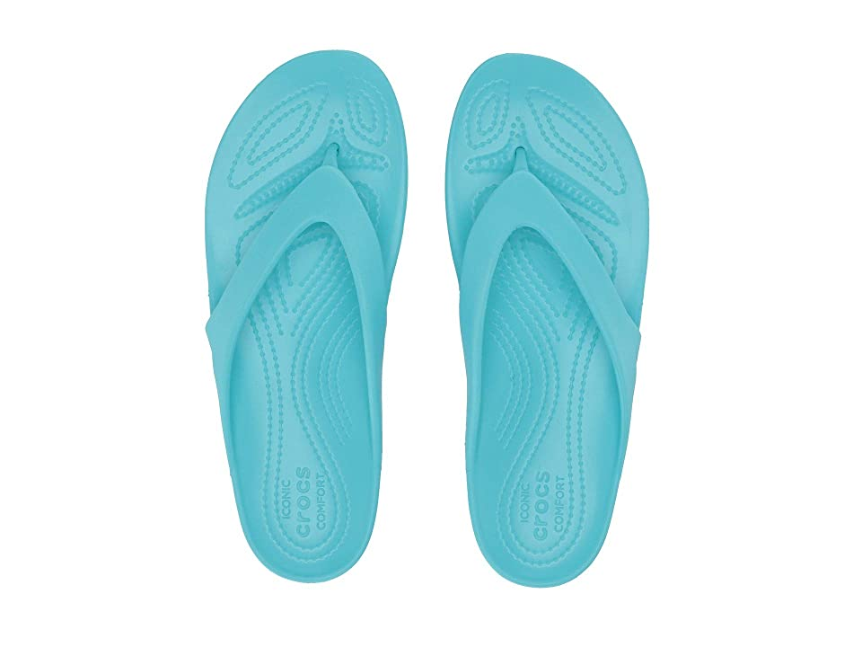 Crocs Kadee II Flip (Pool) Women's Sandals, Blue