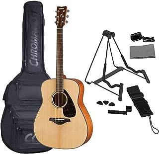 Yamaha FG800 Acoustic Folk Guitar Natural Bundled with Gig Bag, Stand, Tuner, Strap, Guitar Picks, String Winder and Polishing Cloth