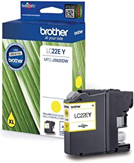 Brother LC 22EY,Yellow,Original Tintenpatrone für Brother MFC J5920DW