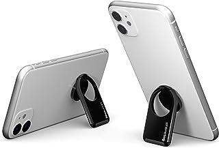 phonetag (フォンタグ) - スマホ スタンド ホルダー 縦、横向き マグネット スマホりんぐ 携帯リング バンカーリング iphone (マットブラック)