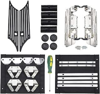 PBYMT Saddlebag Saddle Hard Bag Hardware Kit Billet Aluminum Black Latch Cover Rubber Cushion Compatible for Harley Touring Road King Street Electra Glide 1993-2013