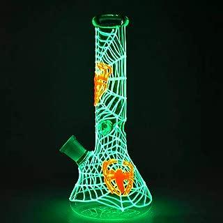 MILISA 10 Inch Fantasy Magic Spider Web Glass Art Glow in The Dark