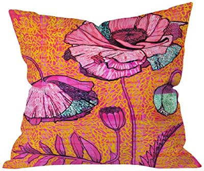 DENY Designs Mikaela Rydin Vallmo Throw Pillow, 16 by 16 Inch