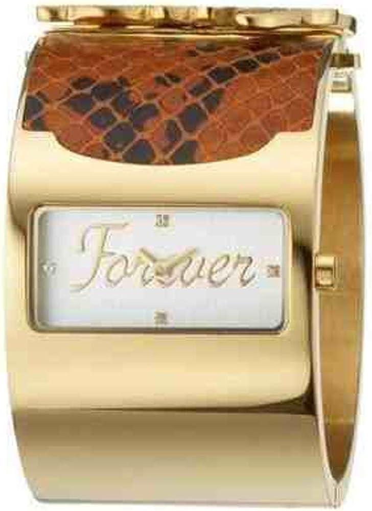 Dolce & gabbana, orologio da donna, in acciaio inossidabile dorato con pelle DW0135