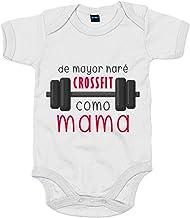 Body bebé De mayor haré Crossfit como mamá - Blanco, 6-12 meses