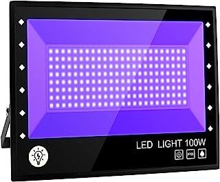 BOSITE Lumière Noire LED 100W,Imperméable IP66 Projecteur Lumière UV Extérieur,Lampe LED Violet,Eclairage à Effet pour Fêt...