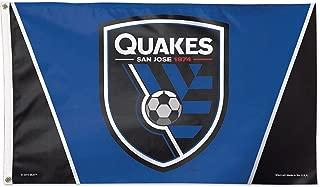WinCraft Soccer San Jose Earthquakes 09471115 Deluxe Flag, 3' x 5'