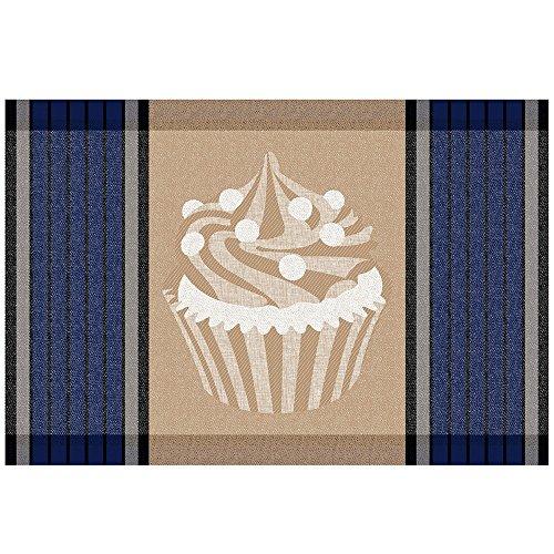 Kela 11769 Cupcake Set de table Plastique Bleu 43,5 x 28,5 x 1 cm