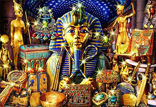 Wooden Jigsaw Puzzles, 1000 Piezas, Faraón Dorado Egipto, 1500/1000/500 Piezas, Juegos De Puzzle Decoración para El Hogar Regalos