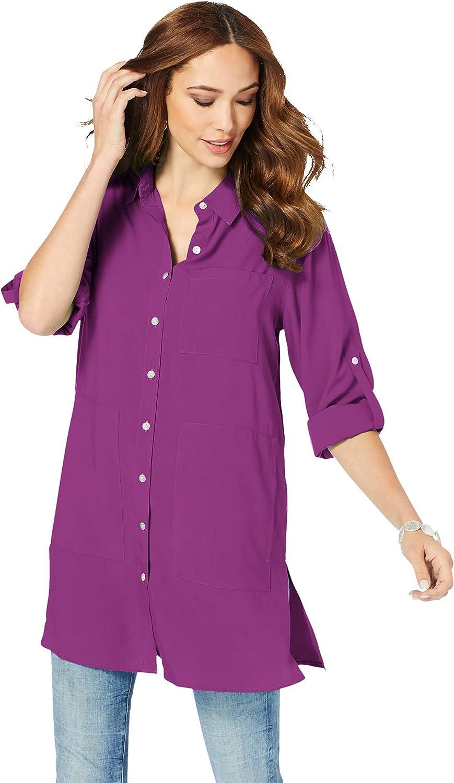 Roamans Women's Plus Size Kelli Big Shirt