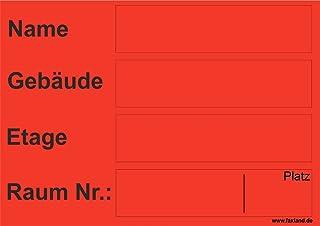 40x Umzugetiketten Nr.5, 105x74, Beschriftung mit Etiketten vom Umzugskarton für den Umzug, Umzugsetiketten, Rot