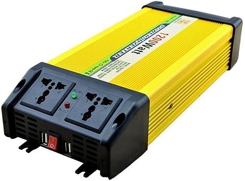 HSDMWJD Wechselrichter-Auto Wechselrichter 1200 W DC 12 V AC 220 V USB Stromrichter Wechselrichter Netzteil