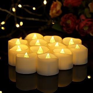 Flickering Battery Operated Flameless LED Tea Lights for Seasonal and Wedding Festival Celebration,Thanksgiving Christmas ...