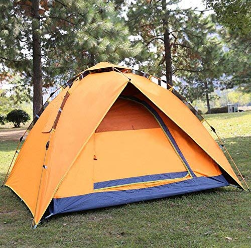 RYP Guo Outdoor Products Camping en Plein air Tentes de dîner de Camping décontractées, Tentes de Camping imperméables Respirantes, Utilisation de 3 à 4 Personnes, tentes portatives,3-4 Personne,Oran