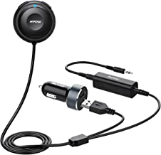 Mpow MBR2 Bluetooth Car Kits, Bluetooth 4.2 Reciever for Music Streaming, Bluetooth Aux Adapter with Dual USB Car Charger ...