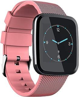 QIANRUNHE Reloj Inteligente, Prueba De Agua/Bluetooth/Pulsera Deportiva Monitor De Ritmo Cardíaco Rastreador De Fitness Banda Inteligente De Control Remoto