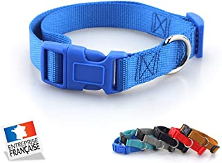 NAMCHE Collier pour Chien Souple Résistant et Confortable -Excellente Qualité (S, Bleu)