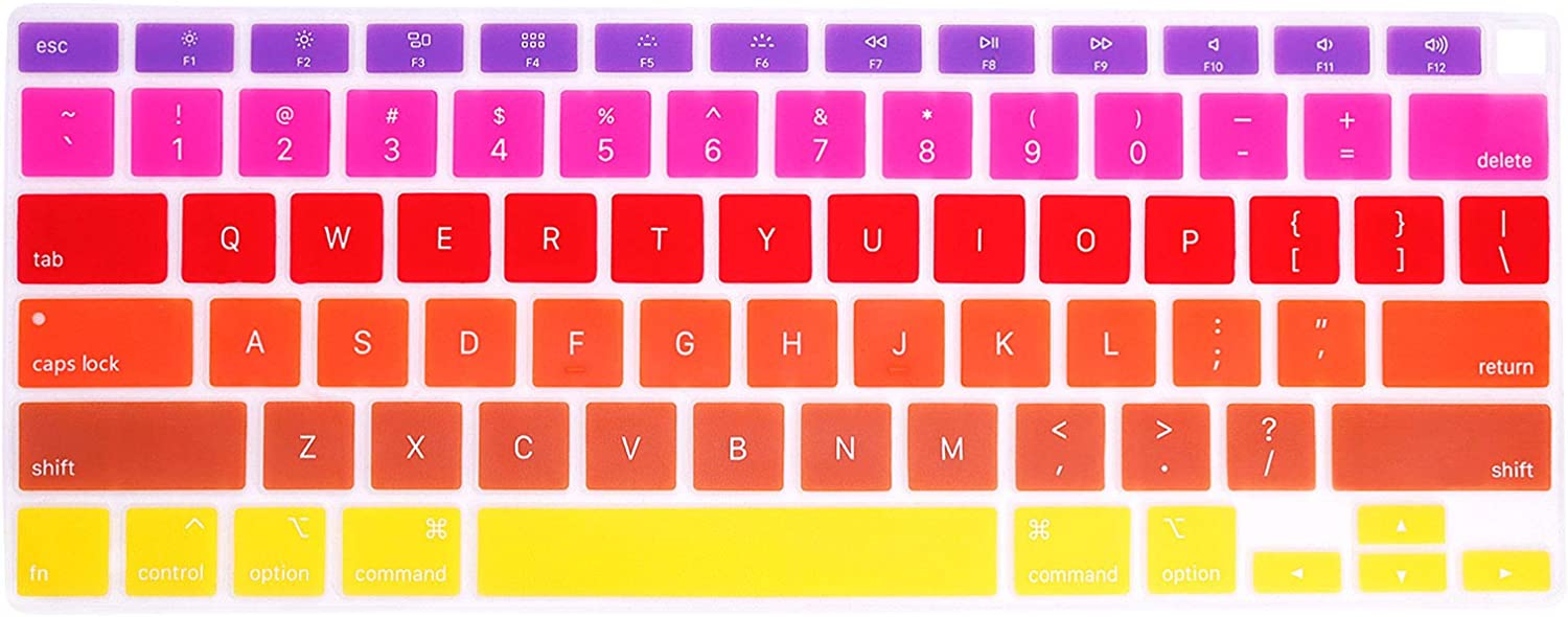 Factory outlet Animer and price revision WYGCH Rainbow Keyboard Cover A2179 Skin Protective Keyb Silicone