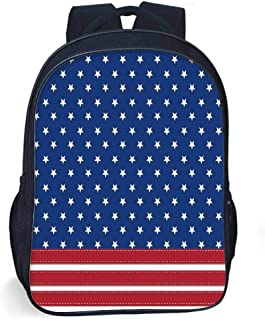 4th of July Decor Stylish Backpack,Old Fashion US Flag Motif with Nostalgic Featured Stripes and Tones Print for Daily Use,One_Size