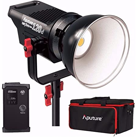Aputure Light Storm COB 120D 135W 6000K Daylight Balanced LED Continuous Video Light CRI97+ TLCI97+ 14000lux@0.5M Bowens Mount Dual Power Supply 2.4G Remote Control 18dB Low Noise V-Mount Plate