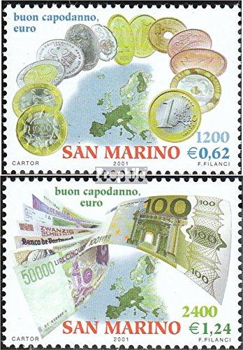 Prophila Collection San Marino 1980-1981 (kompl.Ausg.) 2001 Einführung des Euros (Briefmarken für Sammler) Münze auf Marke