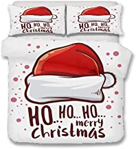 YYHQHE Christmas Decoration Bedding set 3D Digital Printing Santa Claus Bed Sheet Duvet Cover and Pillowcase Home Textiles...