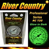 River Country 2' Night Glow' Glow in The Dark Adjustable BBQ Grill, Smoker & Pit Thermometer
