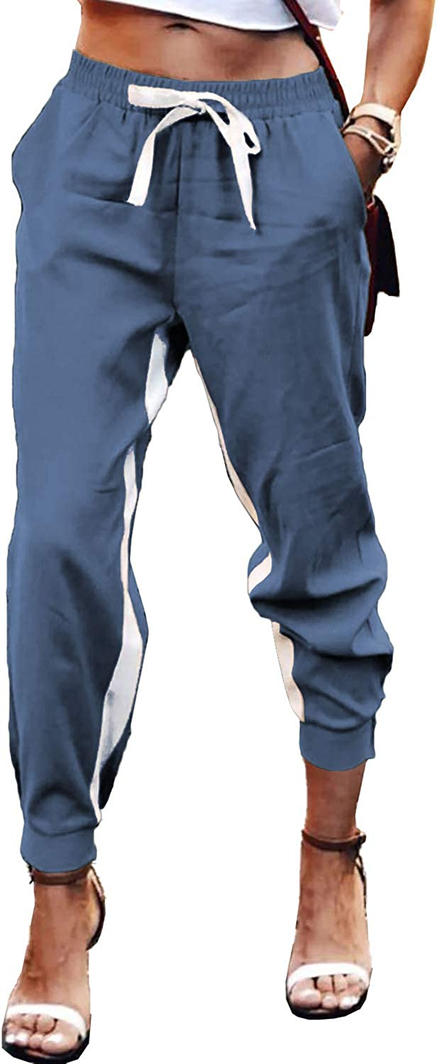 ROSKIKI Women's Active Sweatpants Lightweight Casual Drawstring Waist Workout Joggers Pants with Pocket